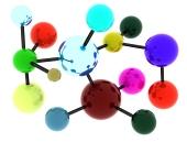 Abstraktní barevná molekula