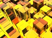 Žluté kubické pozadí