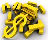 Zlaté cihly a zlatý dolar