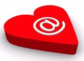 Symbol emailu na srdíčku