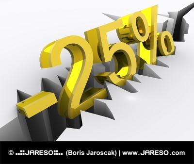 Koncept 25 procentní slevy