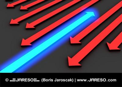 Symbolika pohybu proti proudu