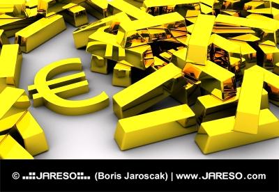Zlaté cihly a symbol EURA