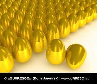 Koncept mnoha zlatých vajec