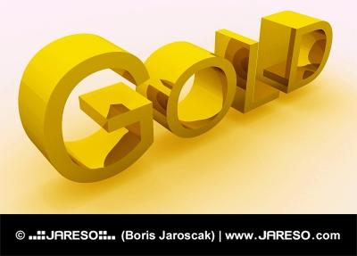 Zlatý nápis GOLD (ZLATO)